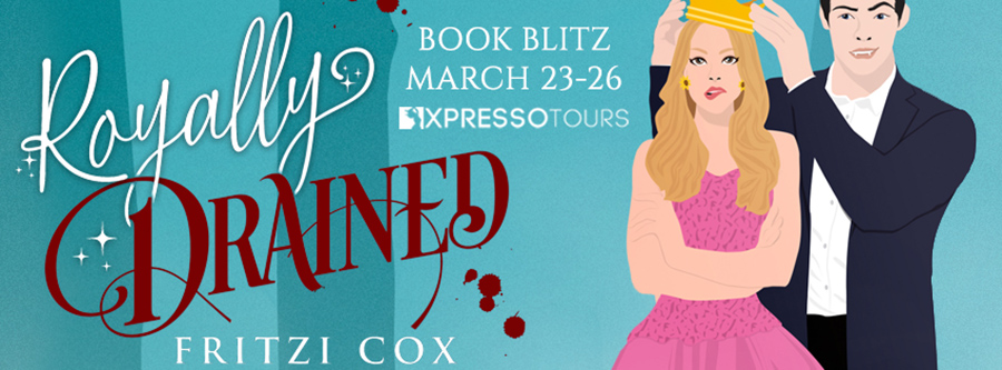 Welcome to the book blitz for ROYALLY DRAINED, the first book in the adult paranormal romance series, V.I.L.F., by Fritzi Cox