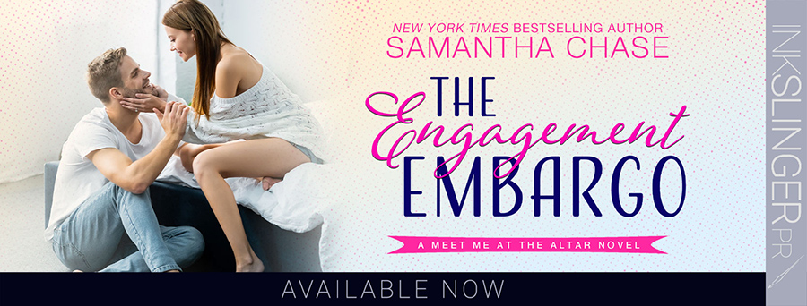 Today is release day for THE ENGAGEMENT EMBARGO, the first book in the adult contemporary romance series, Meet Me at the Altar, by New York Times and USA Today bestselling author, Samantha Chase
