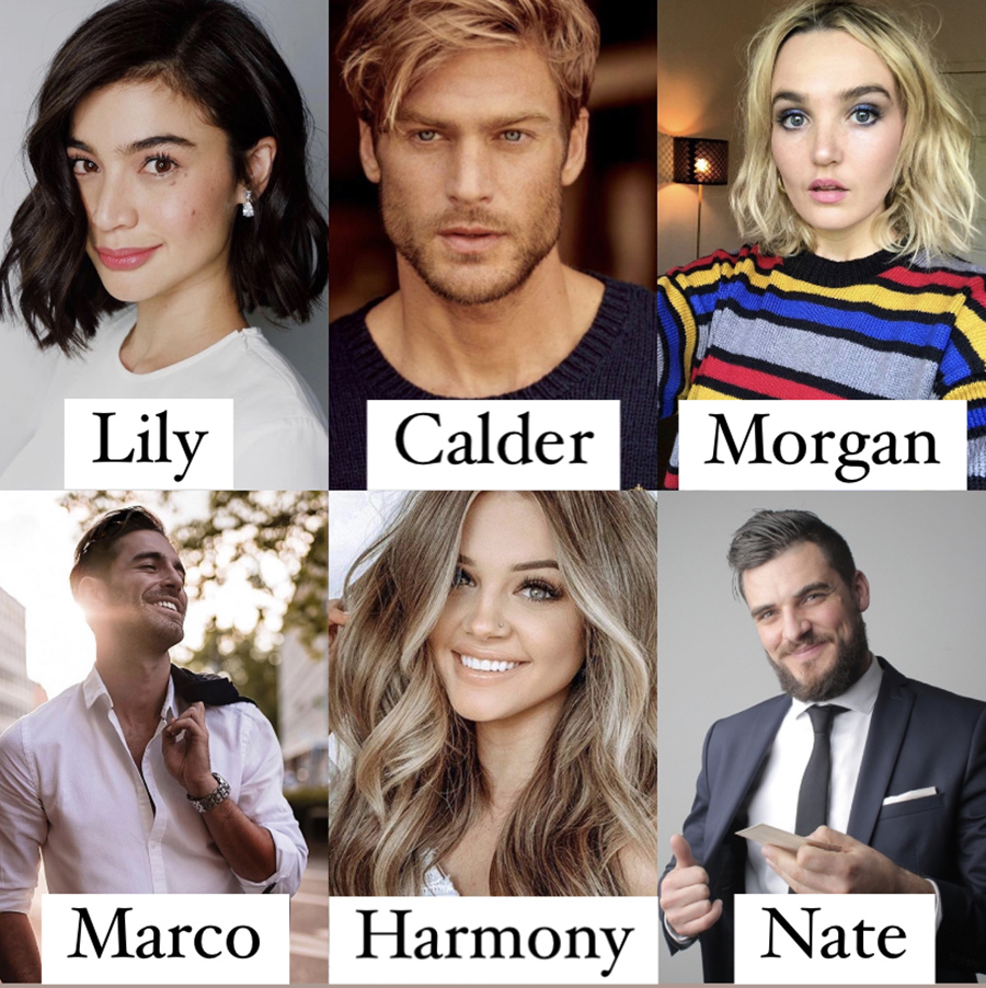 Character Inspiration for the cast of SIPS & STROKES, a stand-alone adult contemporary romantic comedy, by Sarah Skye