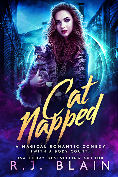 CATNAPPED, the eighteenth book in the adult paranormal romantic comedy series, Magical Romantic Comedies, by USA Today bestselling author, R.J. Blain