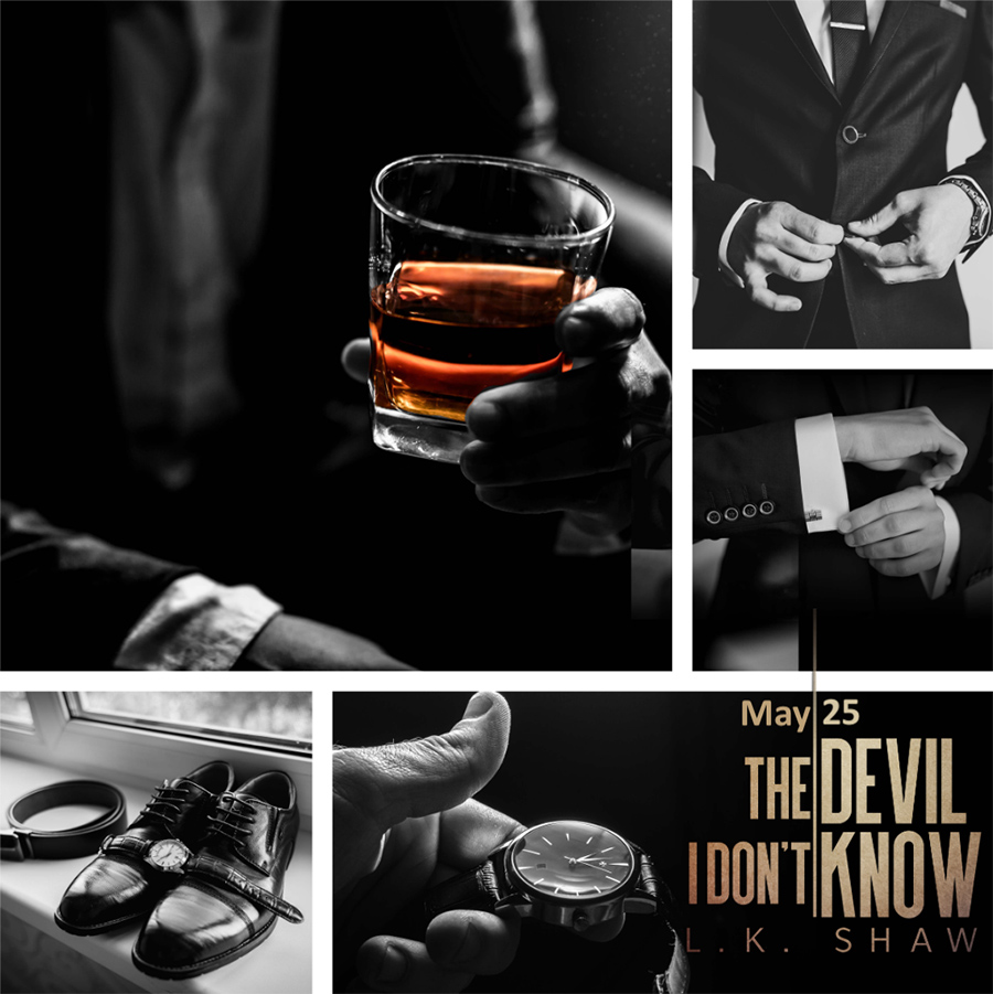 Mood board for THE DEVIL I DON'T KNOW, the first book in the adult mafia romance series, Brooklyn Kings, by L.K. Shaw
