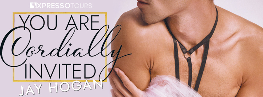 Author Jay Hogan is revealing the cover to YOU ARE CORDIALLY INVITED, the fifth book in the adult contemporary romance series, Auckland Med Wedding, releasing June 17, 2021