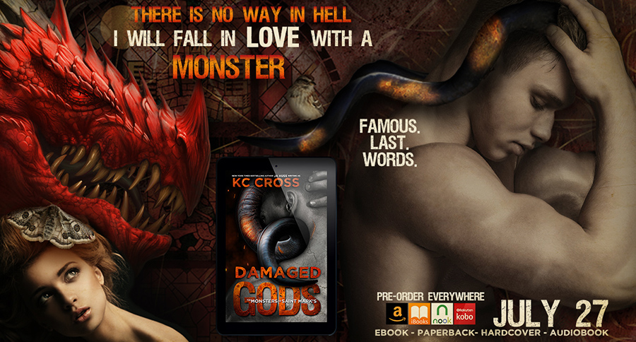 Teaser from DAMAGED GODS, the first book in the adult scifi alien romance series, The Monsters of St. Mark's