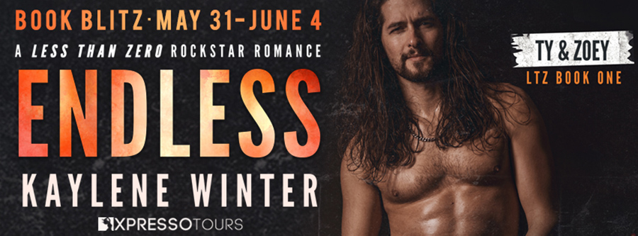 Welcome to the book blitz for ENDLESS, the first book in the adult contemporary rockstar romance series, Less Than Zero, by Kaylene Winter
