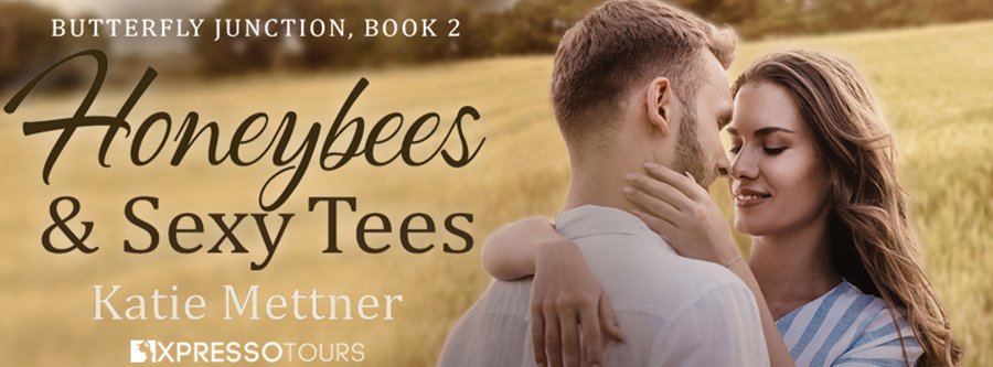 Author Katie Mettner is revealing the cover to HONEYBEES AND SEXY TEES, the second book in the adult contemporary romantic suspense series, Butterfly Junction, releasing July 20, 2021
