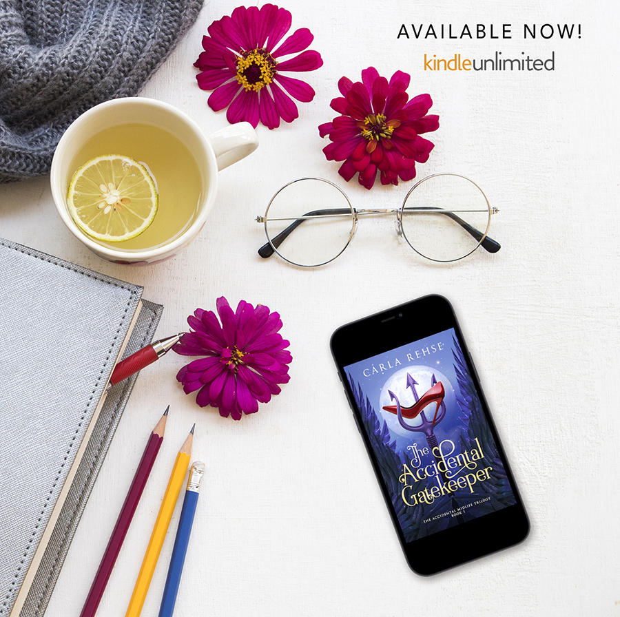 THE ACCIDENTAL GATEKEEPER, the first book in the adult paranormal romance series, The Accidental Midlife Trilogy, by Carla Rehse is available now on Kindle Unlimited