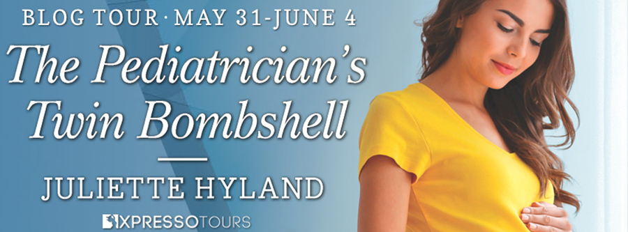 Welcome to the blog tour for THE PEDIATRICIAN'S TWIN BOMBSHELL, the latest book in the adult contemporary romance series, Harlequin Medical Romances, by Juliette Hyland