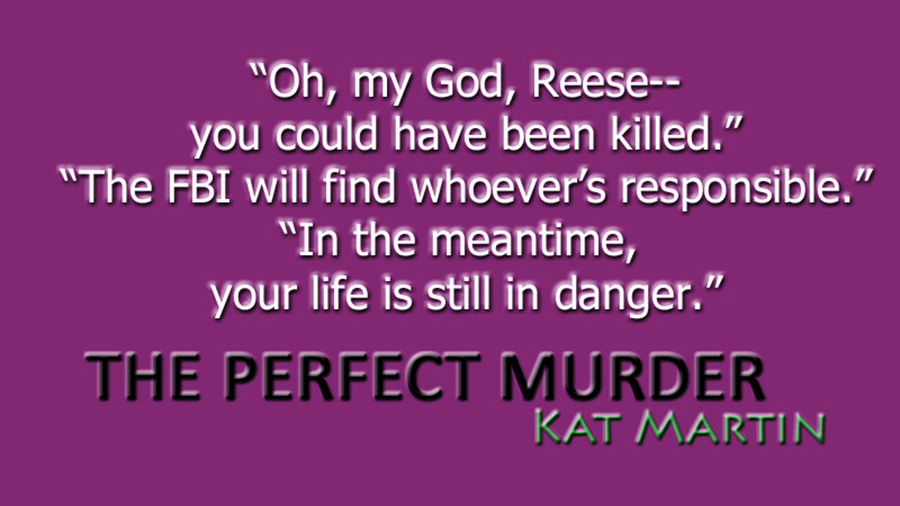 Teaser from THE PERFECT MURDER, the fourth book in the adult romantic suspense series, Maximum Security,by New York Times bestselling author Kat Martin