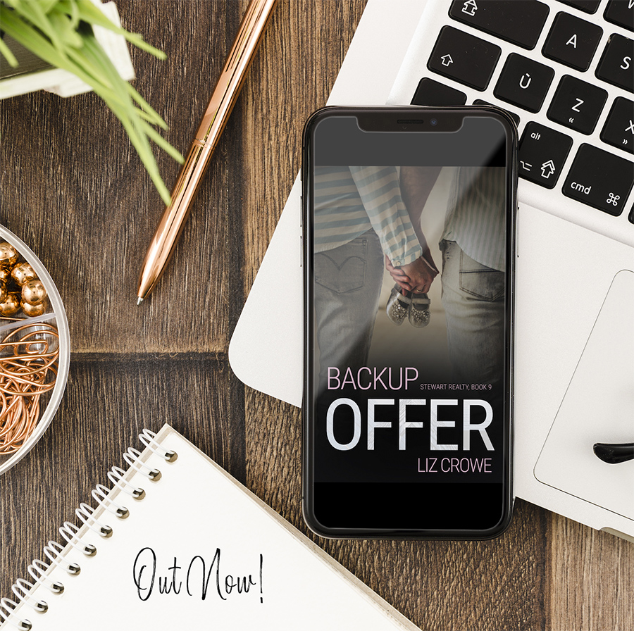 BACKUP OFFER, the ninth book in the adult contemporary romance series, Stewart Realty, by Liz Crowe is Out Now