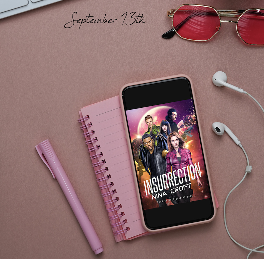INSURRECTION, the third book in the adult science fiction/paranormal romance series, Dark Desires Origins, by Nina Croft, releases September 13, 2021