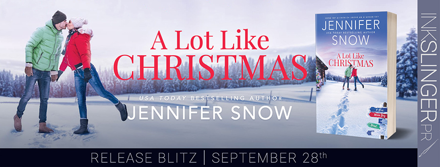 Today is release day for A LOT LIKE CHRISTMAS, the second book in the adult contemporary romance series, Blue Moon Bay, by USA Today bestselling author Jennifer Snow