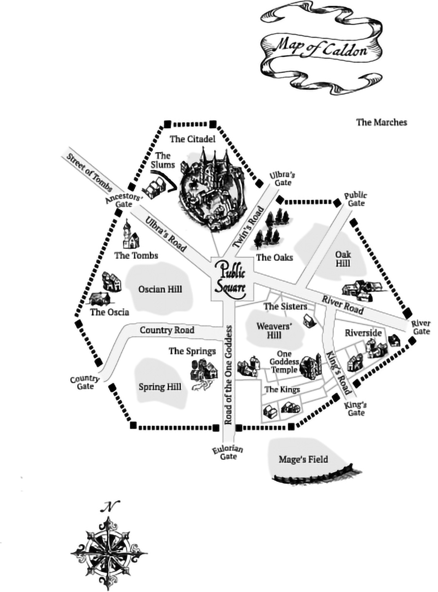 Map from CHARM WARS, the first book in the young adult fantasy series, Charm Wars, by Dan Lutts