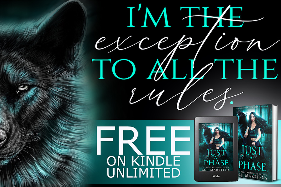 Teaser from JUST A PHASE, the first book in the new adult paranormal romance series, Not Another Teen Wolf, by USA Today bestselling author M.J. Marstens