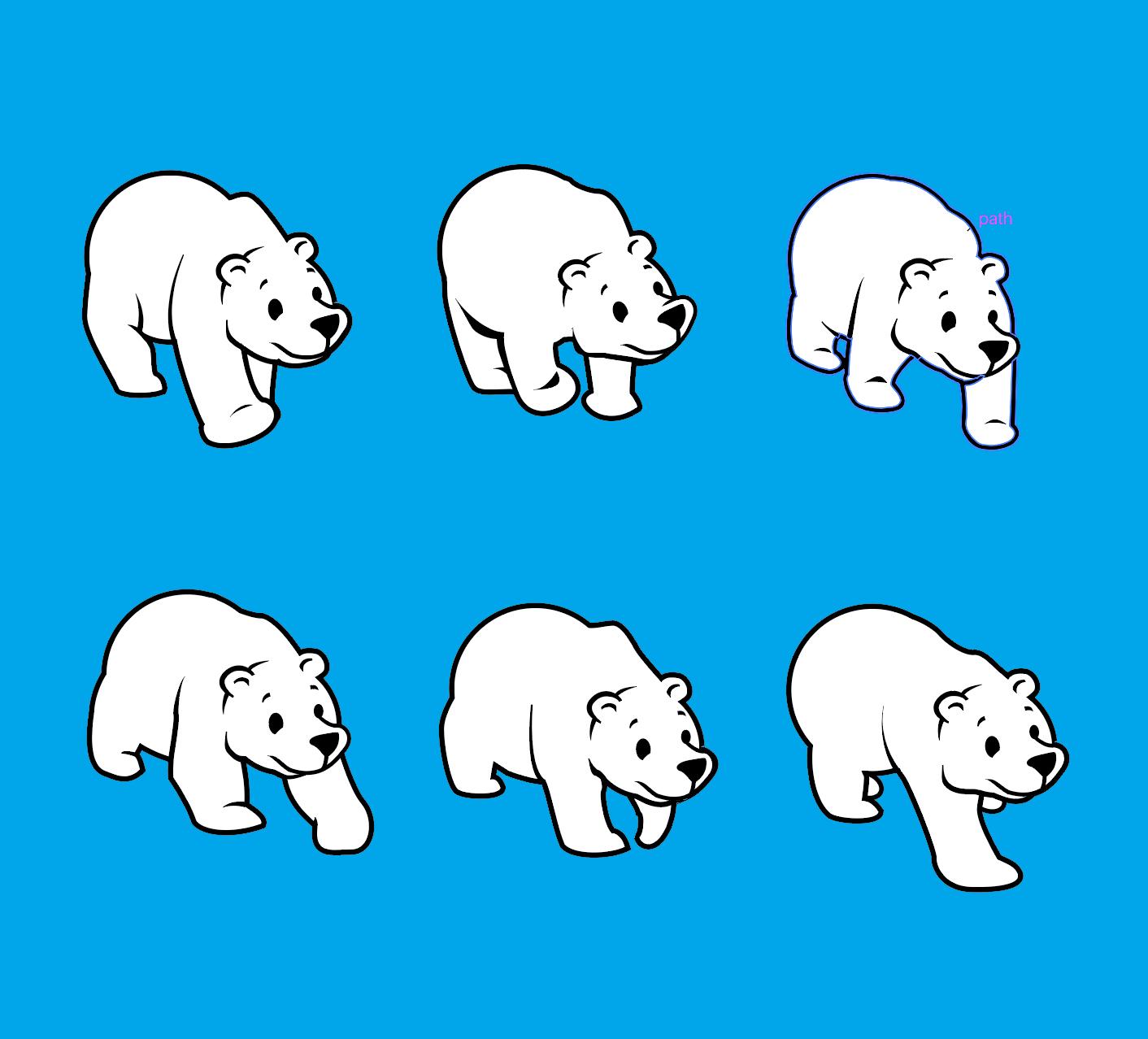 thhink polar bear frames