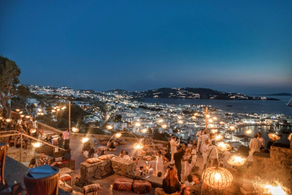 Grèce | Mykonos | 180 degrés sunset Bar | Night