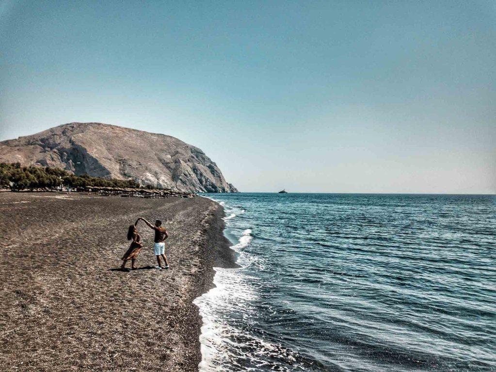 Santorin Perissa Beach