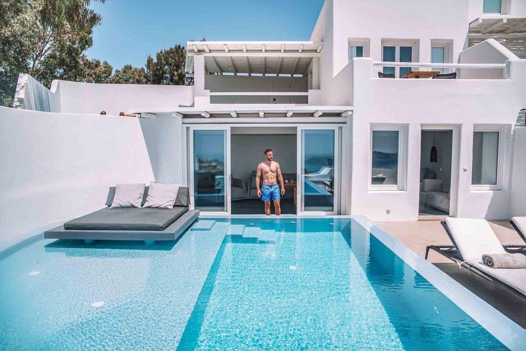 Cavo Tagoo Santorini - Hotel Room with private pool