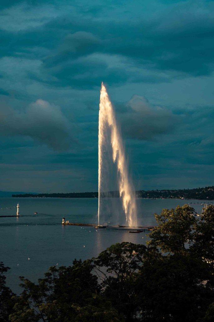 Découverte de Genève - Suisse - Jet d'eau