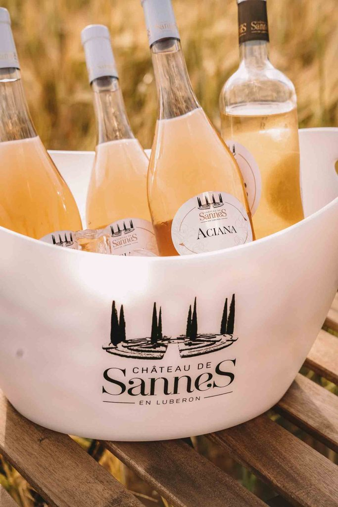 Bouteille de rosé du Château de Sannes