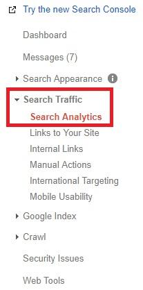 permulaan cara melihat trafik website google webmaster
