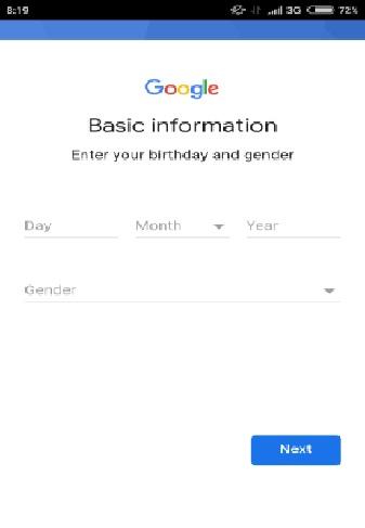 cara daftar dan buat akun gmail lewat smartphone 3