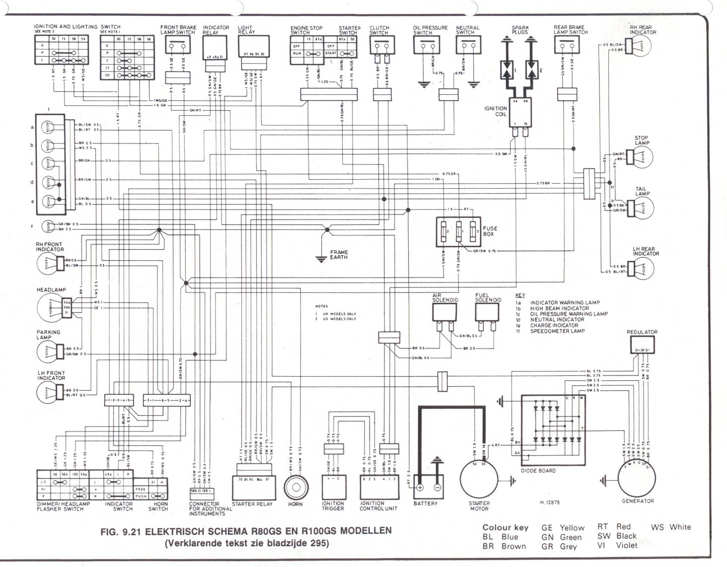 Bmw R R Electrical Wiring Diagram