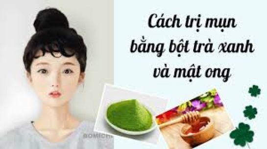 Cách trị mụn mủ bằng bột trà xanh