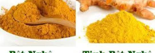 Cách phân biệt tinh bột nghệ vàng nguyên chất và bột nghệ
