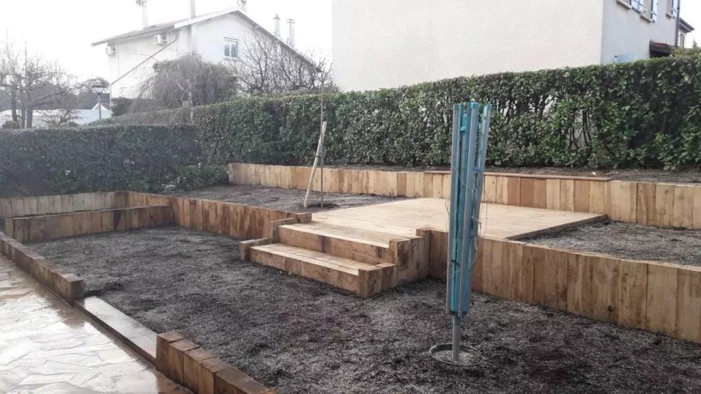 "Finalisation du de la création du jardin dit ""babylonien"""