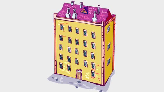immeuble de rapport cartoon