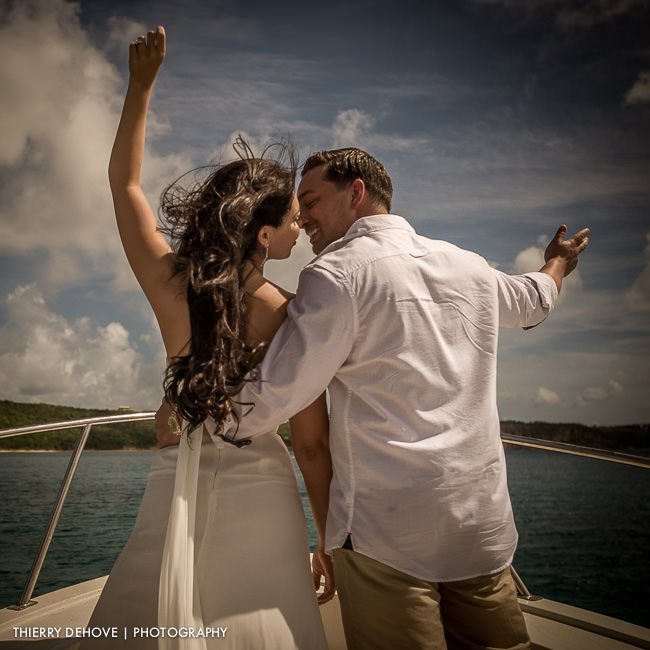 Engagement photography with Jackie & Angelo at CeBlue in Anguilla