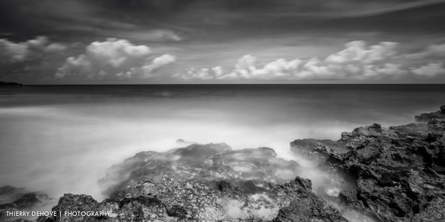 Long exposure photography black and white photo in Anguilla