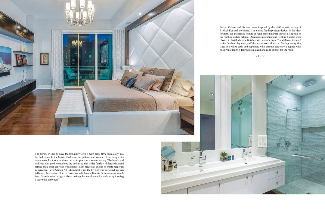 Florida Decor Magazine Featured Steven Zelman Interior Designer