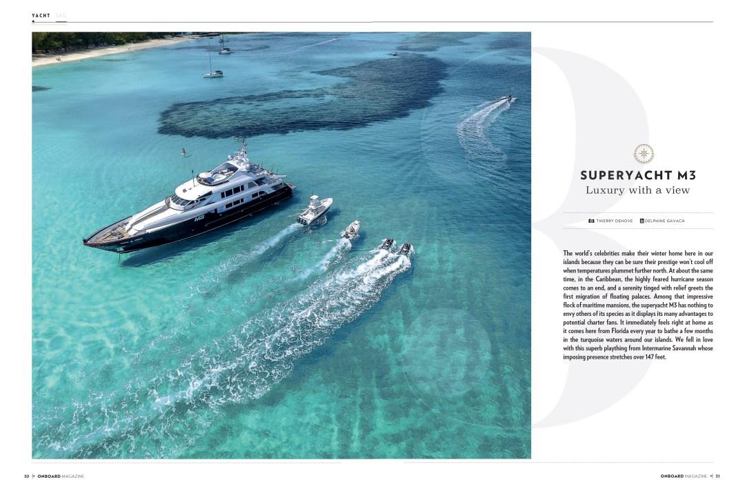M3 Motor Yacht into Onboard Magazine Saint Martin