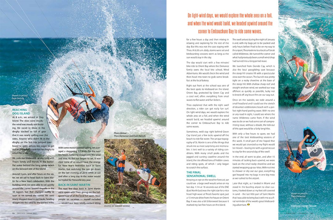 Opulence March 2017 Gone with the wind, Kitesurfing in Caribbean