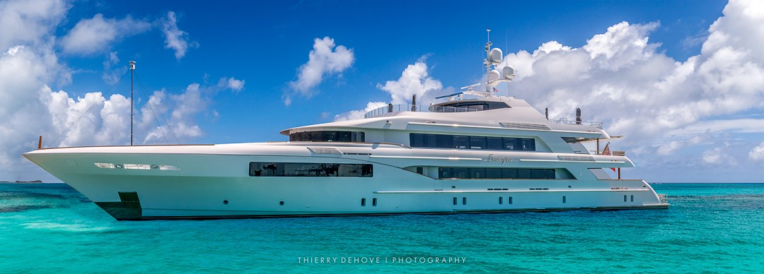 Motor Yacht Trinity Imagine 193' in The Exumas, Bahamas