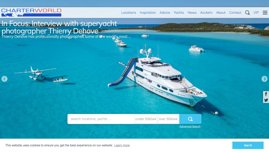 Charter World In Focus: Interview with SuperYacht photographer Thierry Dehove