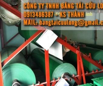 Băng tải PVC (XANH-TRẮNG)