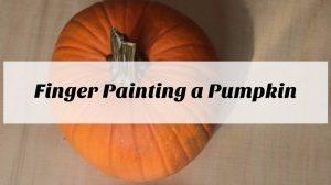 Finger Painting A Pumpkin