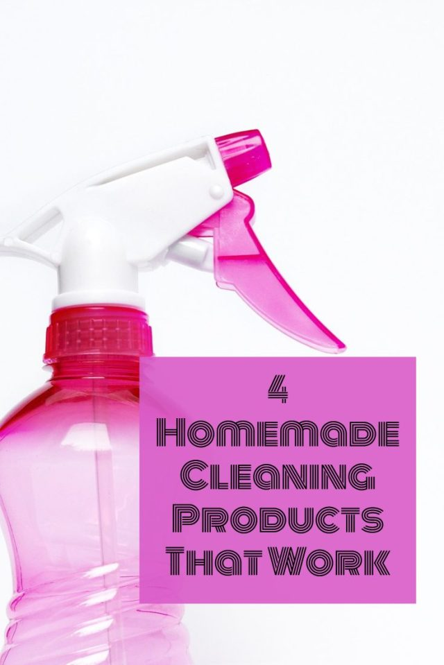 Homemade cleaning products are typically safer to use and less expensive to make. If you've never tried them, there's seriously no better time to start. Here are four possible options to consider.