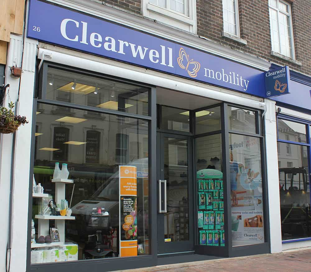 Clearwell mobility shop front