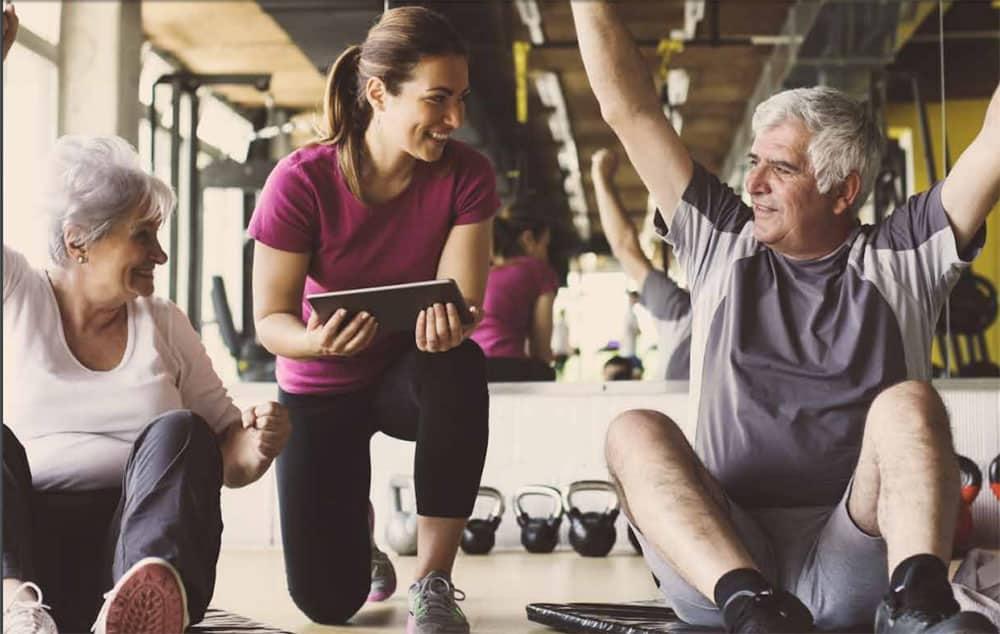 Older People being active