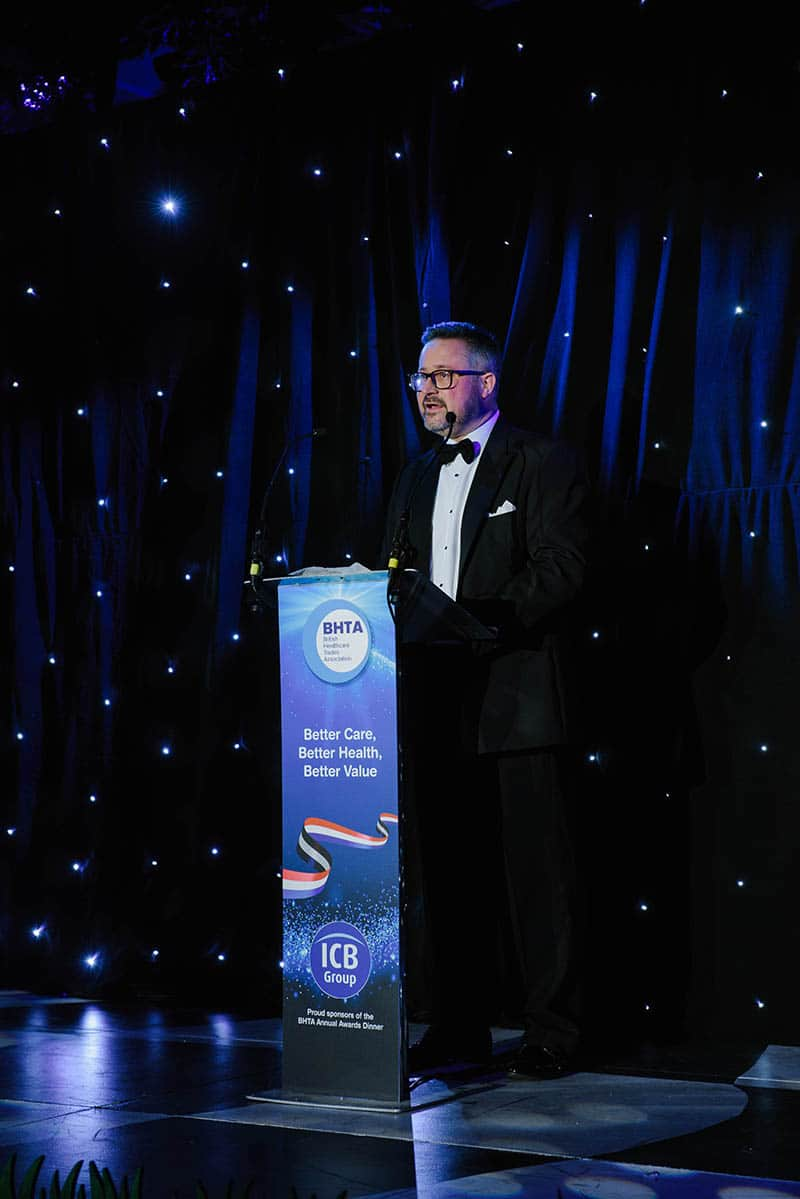 BHTA Annual Awards Chairman Alastair Maxwell