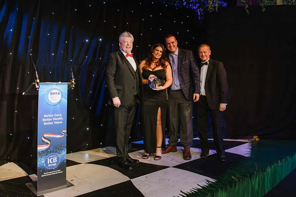 BHTA Awards Higher Elevation team accepting awards