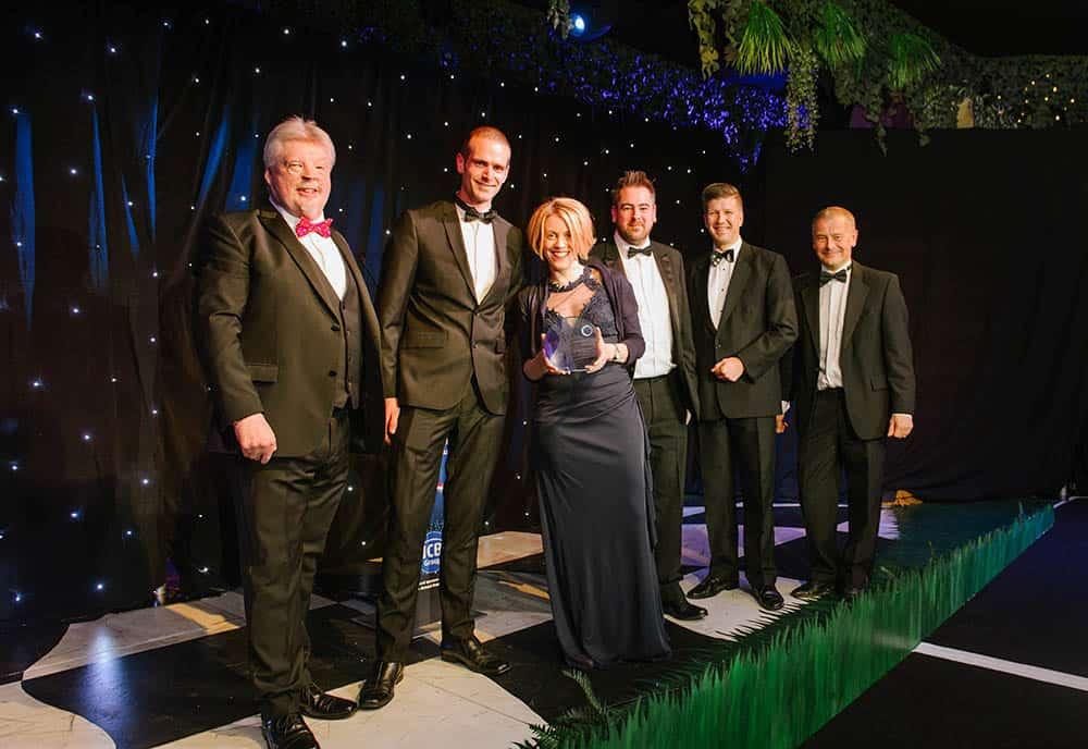 BHTA Awards winners Jenx team accepting award