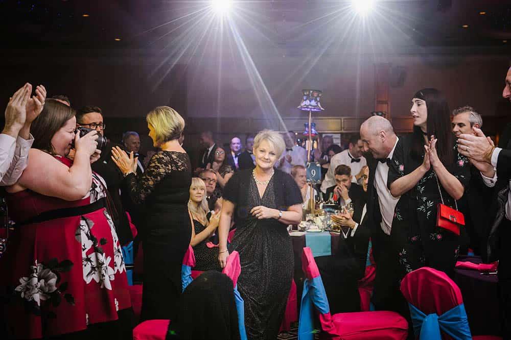 BHTA Award winner Karen Finch accepting her award