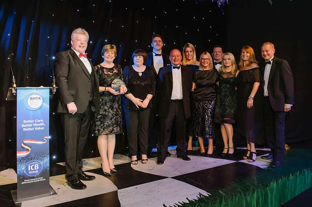BHTA Awards dinner Respond accepting award