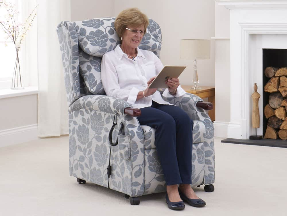 Primacare Chatsworth chair with woman sitting