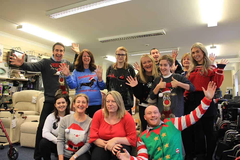 Clearwell Mobility team Christmas Jumper Save the Children