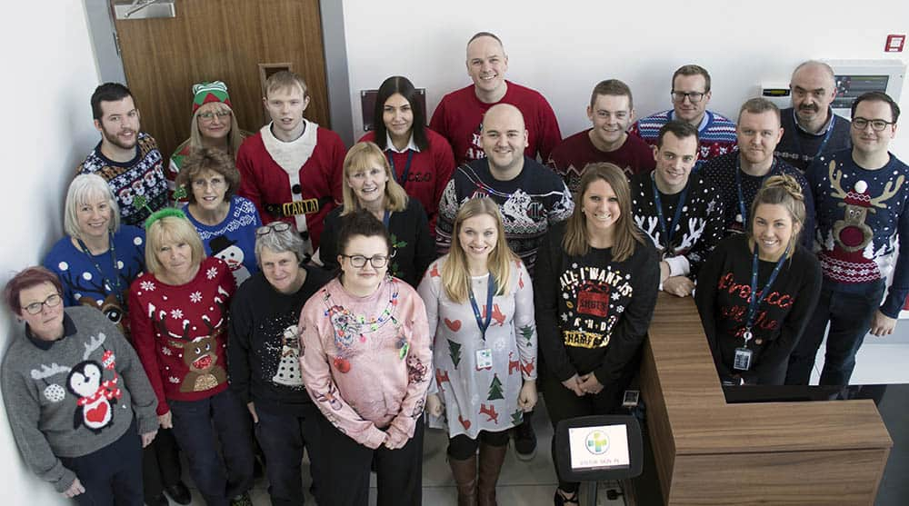 Reliance Medical team shot wearing Christmas Jumper for Save the Children
